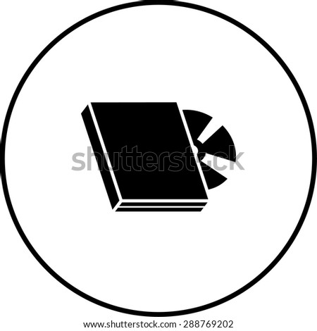 dvd with box symbol - stock vector