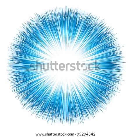 Dynamic Blue Light Explosion. Vector Illustration - stock vector