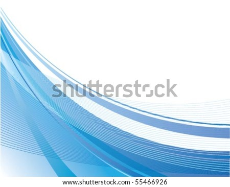 Dynamic Blue Swoosh - stock vector