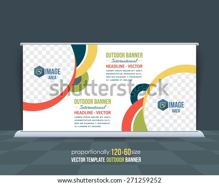 Dynamic Business Theme Outdoor Banner Design, Advertising Vector Template  - stock vector