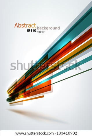 Dynamic colorful stripes. EPS10 vector abstract background, - stock vector
