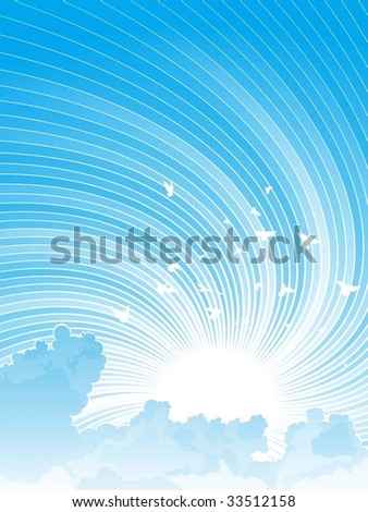 dynamic sky and clouds - stock vector