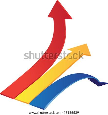 Dynamyk arrows up, down, line - stock vector