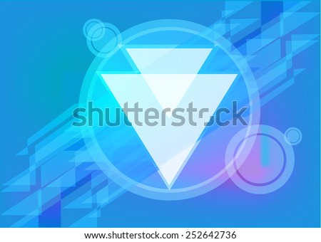 Dystopia or Alien Architecture or Technology Futuristic Abstract Frame Background - stock vector