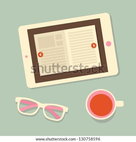 e-book - stock vector