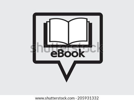 E-book reader  and e-reader icons set - stock vector