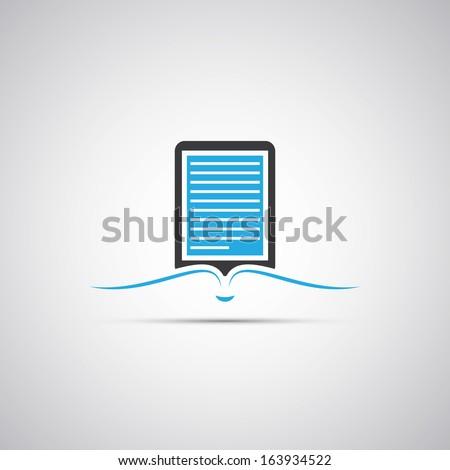 E-Book Reader Icon Design - stock vector