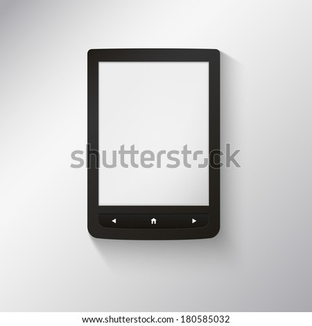 e-book reader. You may add your own text or picture. - stock vector