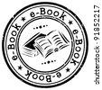 e-book stamp - stock vector