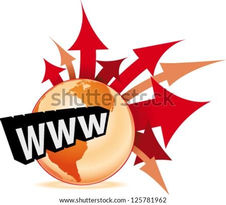 E-Business on Internet - stock vector