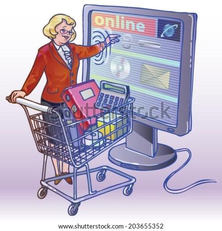 e-commerce - stock vector