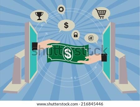 E-commerce concept - stock vector