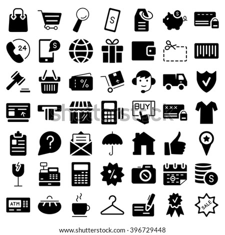 Ecommerce flat web icons set vector stock vector 396729448 e commerce flat web icons set vector symbols altavistaventures Images