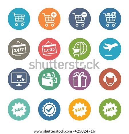 E-commerce Icons Set 2 - Dot Series - stock vector
