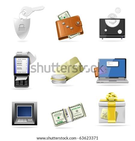 e-commerce vector icon set - stock vector