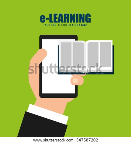 e-learning  concept design, vector illustration eps10 graphic