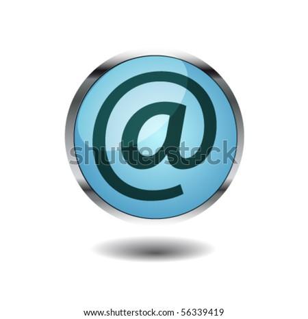 e mail button - stock vector