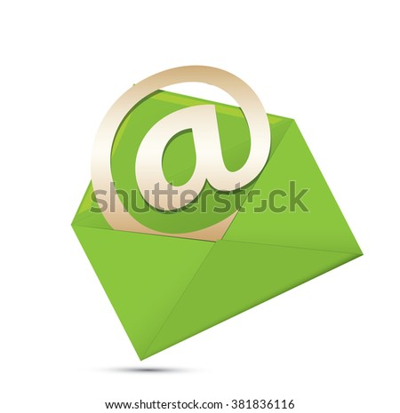 e mail icon - stock vector
