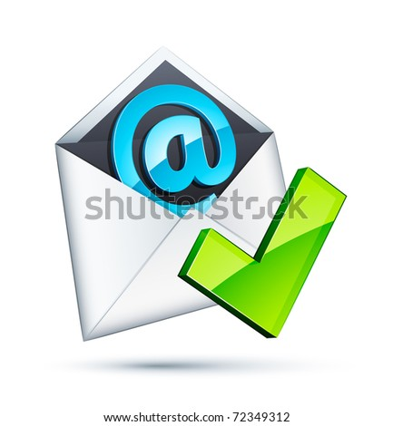 E mail icon and validation - stock vector
