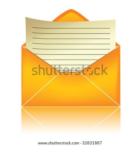 E-mail icon, orange #3 / vector - stock vector