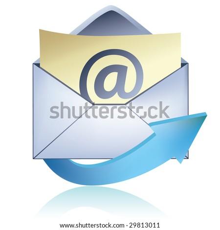 E-mail icon / vector - stock vector