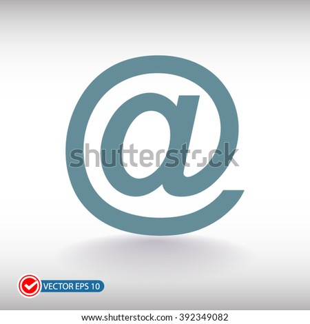 e-mail internet icon, vector illustration. Flat design style