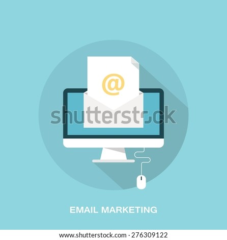 E-mail marketing and promotion concept - stock vector