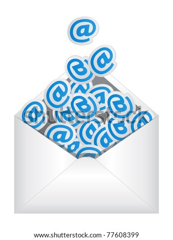 e-mail sign - stock vector