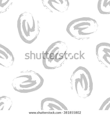 E-mail sign seamless background. Hand drawn pattern. Email or spam  pattern concept. - stock vector