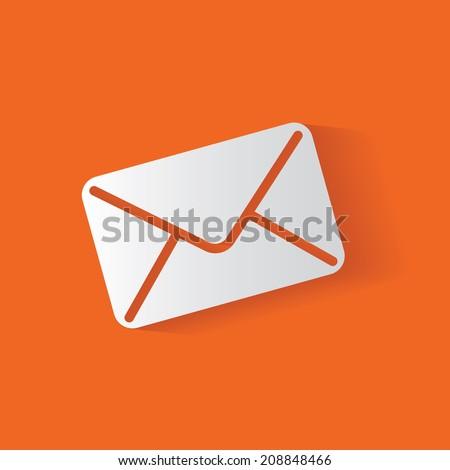 E-mail symbol,clean vector - stock vector