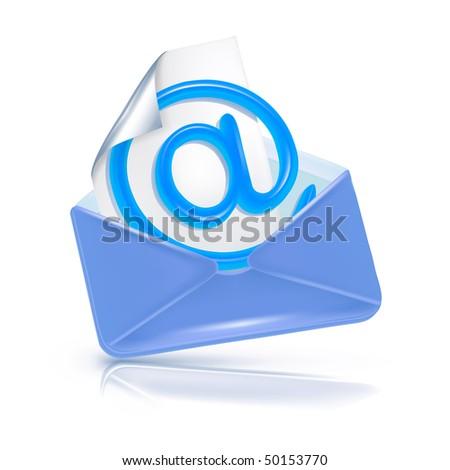 e-mail, vector icon - stock vector