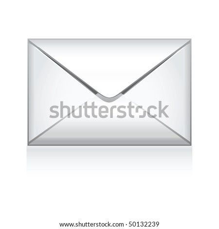 e mail vector icon isolated on white - stock vector