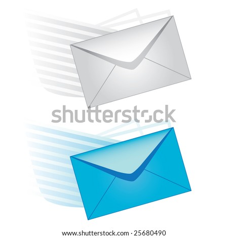 e-mail vector icons - stock vector