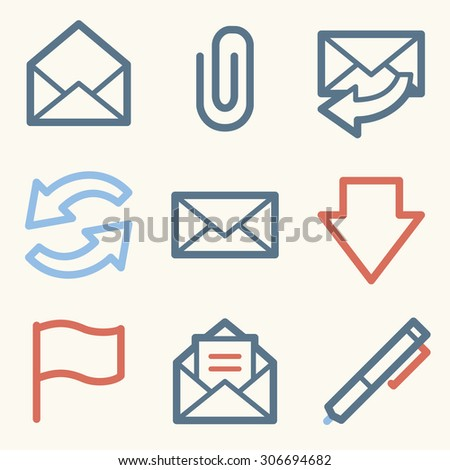 E-mail web icons - stock vector