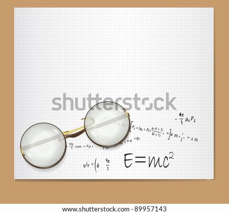 E=mc2  Theory of Relativity - stock vector