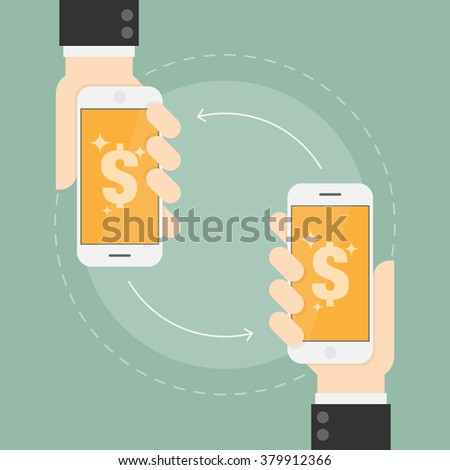 E Payment. Near Field Communication Technology. Business Concept Illustration