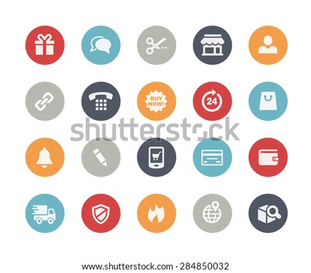 e-Shop Icons // Classics Series - stock vector
