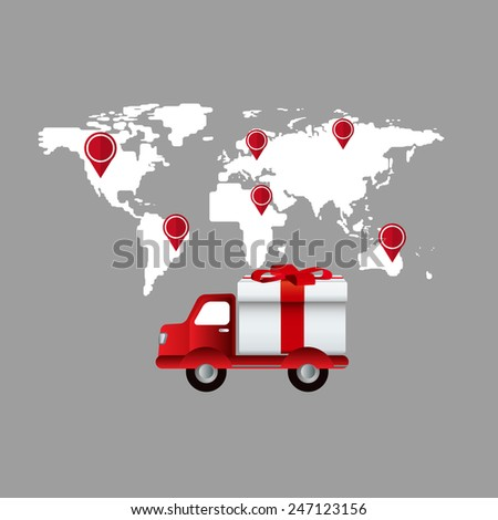 E-shopping - Delivery service - stock vector
