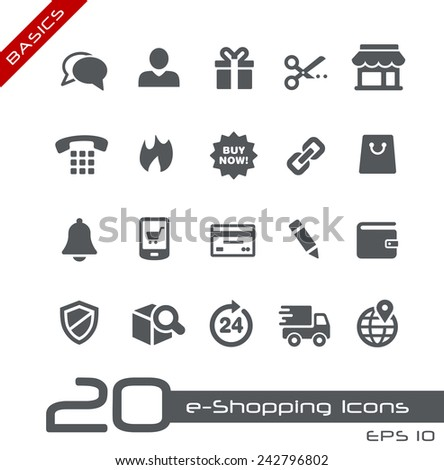 e-Shopping Icons // Basics - stock vector