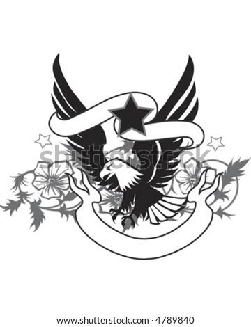 Eagle Banner - stock vector