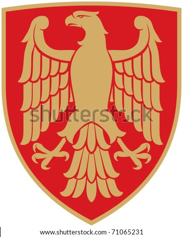 eagle (coat of arms, emblem) - stock vector