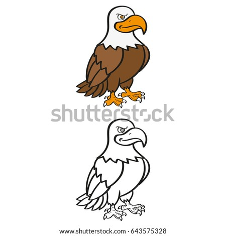 Eagle For Kids Coloring Exercises