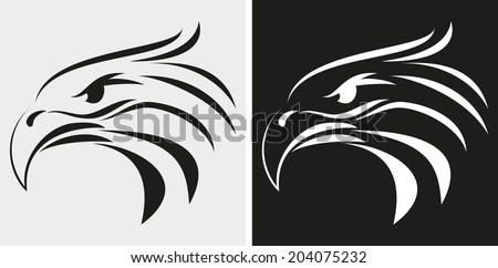 Eagle head icon  - stock vector