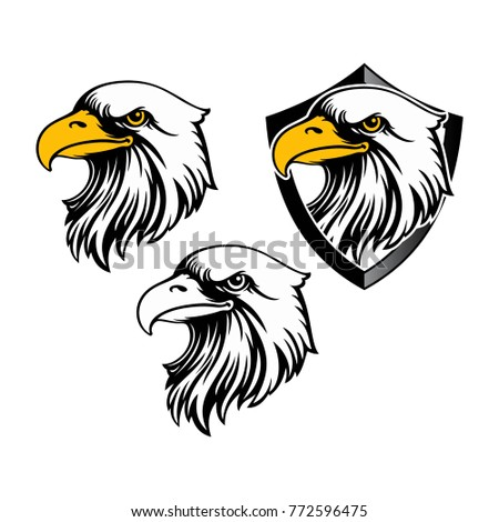 Eagle Head Logo Template Hawk Mascot Stock Vector HD (Royalty Free ...