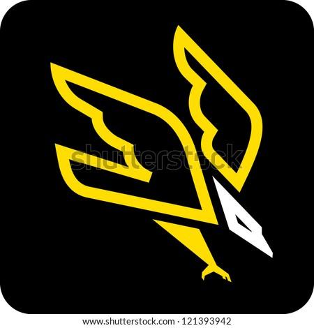 eagle icon - stock vector