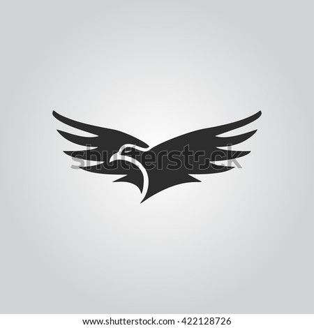 Eagle icon vector - stock vector