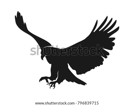 Eagle Illustration Symbol Eagle Silhouette Stock Vector 2018