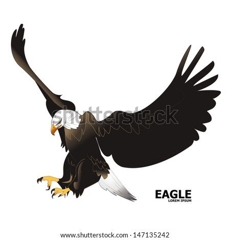 Eagle - Isolated On White Background - Vector Illustration, Graphic Design Editable For Your Design. - stock vector