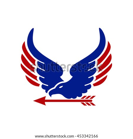 eagle logo and arrow