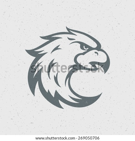 Eagle logo emblem template mascot symbol for business or shirt design. Vector Vintage Design Element. - stock vector